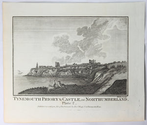 Print 'Tynemouth Priory & Castle – Northumberland Plate 2' @1786