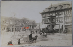 RPPC photo The Square (downtown) Cobalt Ontario @1910