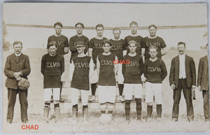 RPPC photo of 1907 football team from Kelvin Ontario