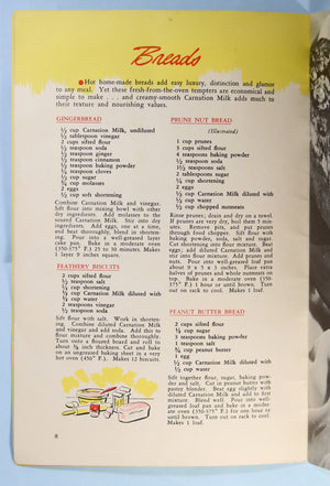 Recipe Book Carnation brand Milk-Rich recipes (Canada) 1940s