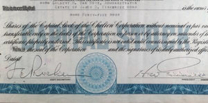 Set of 2 stock certificates of Chelten Corporation (1936)