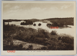 Set of four early photo cards of North Eastern Ontario