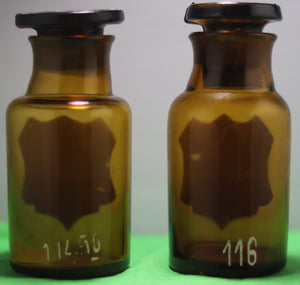 Set of two brown Apothecary bottles early 1900s