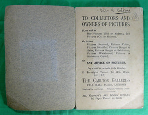 Small photograph book 'Masterpieces of G.F. Watts' 1911
