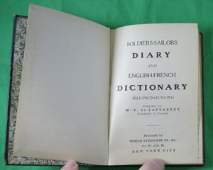 Soldier's - Sailor's DIARY and English-French Dictionary (1917)