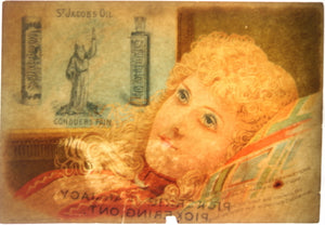 St. Jacob's Oil - Advertising trade Card (early 1900's)