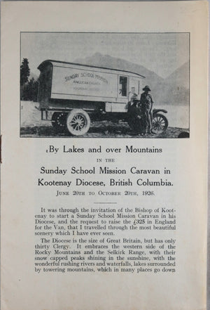 Sunday School Mission Caravan - Kootenay B.C. 1926