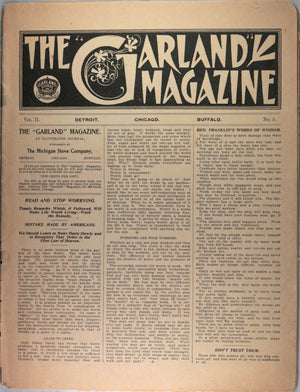 The Garland Magazine - The Michigan Stove Company (1900s)