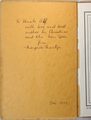 The Hilltop by Marjorie J. Martyn - poetry 1939 (signed by author)