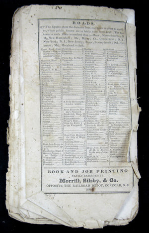 The New England Almanack (Leavitt) - 1844 (USA) Slavery