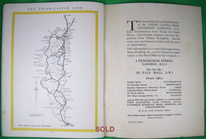 Travel brochure 'In the Track of the Sun' Union Castle Mail Steamship
