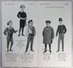 Trois catalogues magasin mode Old England Paris @1912