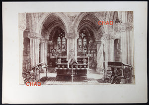 Two albumen photos of Rosslyn Chapel Scotland @1870