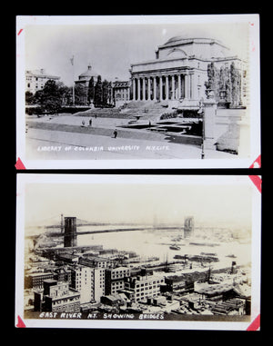Two early photo postcards of NYC (1900s?)