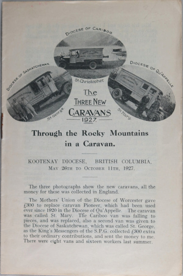 Two pamphlets, Sunday School Caravans British Columbia (1927-1953)