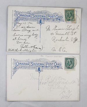 Two patriotic postcards S.S. Kingston (Canada) 1906