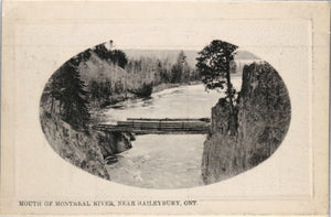 Two postcards Montreal River, Haileybury Ontario (Canada) c. 1910