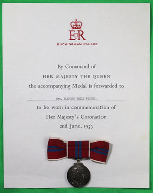 UK medals and papers related to favored servant of Queen Mary 1935-66