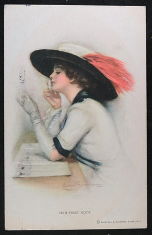 UK women's suffrage and fashion postcard 1915 by Underwood (Reinthal)