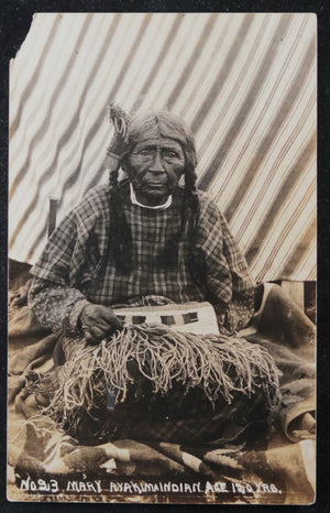 USA photo postcard of 120 y.o. Mary of the Yakama tribe c. 1910