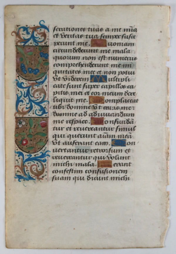 Vellum page from Latin Book of Hours, Paris ~1510 #2