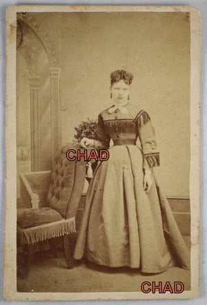 Victorian CDV Elizabeth Reisbridger of Kingston Ontario May 1870