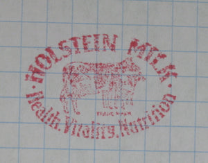 Vintage Printing block - Advertising Holstein Milk (early 20th)