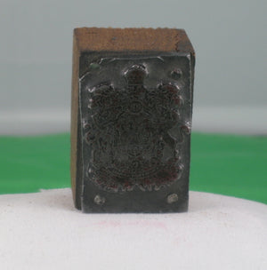 Vintage Printing block - Canadian Coat of Arms