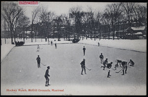 Vintage hockey game photo postcard  – McGill Montreal 1908