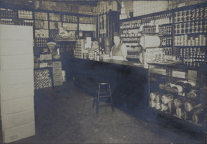 Vintage photo of interior of General Store, early 1900s
