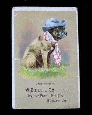 W. Bell & Co Organ & Piano Manfrs Guelph Ont. - Advertising trade Card (early 1900's)