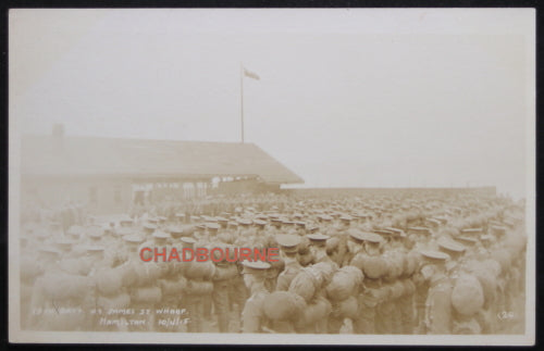 WW1 1915 photo Hamilton Ont. Argyll and Sutherland Highlanders troops