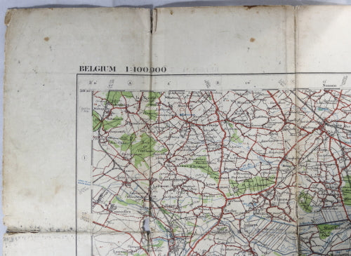 WW1 1916 British military map Valenciennes (Belgium) North France