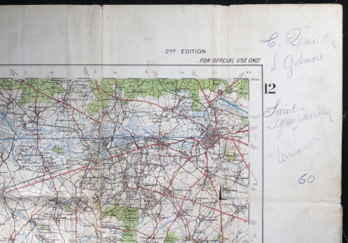 Map Of North France.Ww1 1916 British Military Map Valenciennes Belgium North France