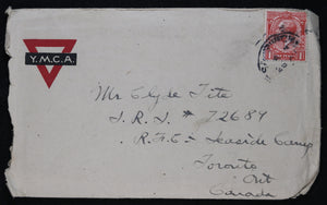 WW1 1917 letter to RFC pilot in Canada from Engineer-Sapper, England #5