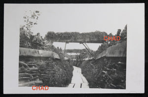 WW1 RPPC German photo of trenches Ypres November 1916 #2