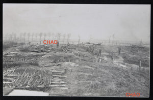 WW1 RPPC German photo of trenches Ypres November 1916