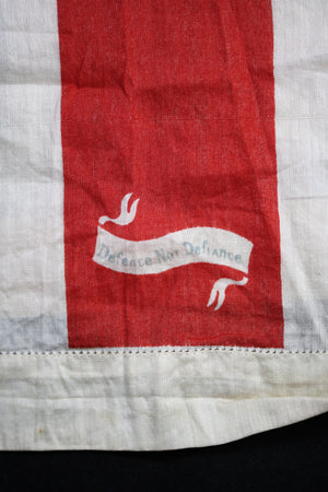 WW1 UK patriotic handkerchief with slogans