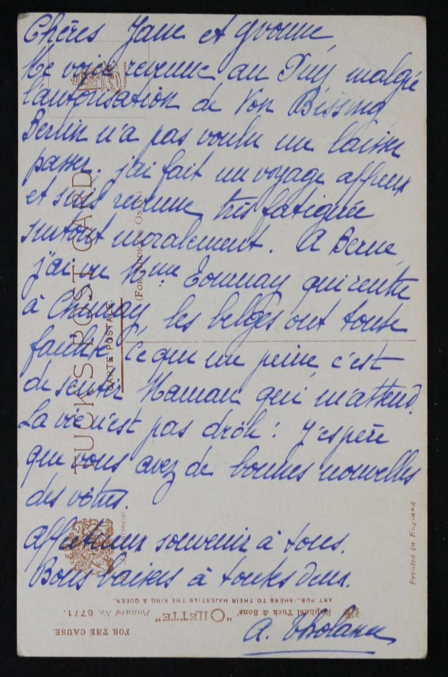 WW1 patriotic postcard 'I've come to help our Belgian Boys' @1916