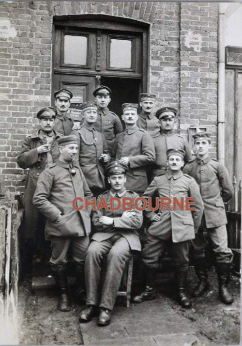 WW1 photo German soldiers 473rd regiment at Brest-Litovsk (Poland)