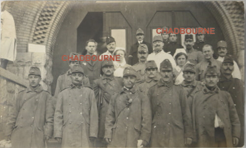 WW1 photo postcard maimed soldiers, Red Cross Hospital  Budapest