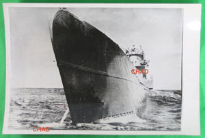 WW2 1943 photo prow German submarine  Sous-Marin allemand