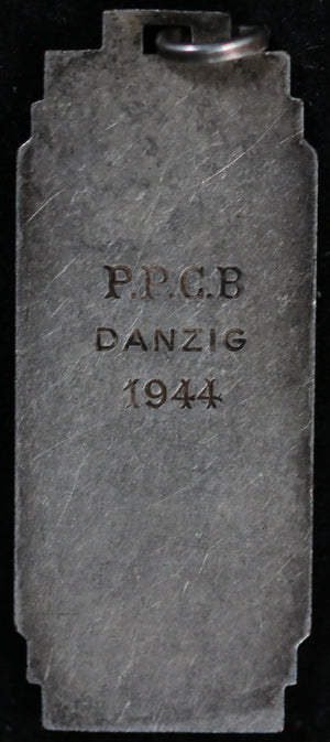 WW2 1944 Danzig Poland table-tennis medal