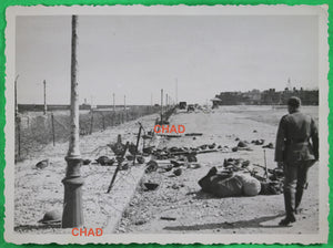 WW2 Dieppe 1942 photo abandoned Canadian gear / materiel Canadien