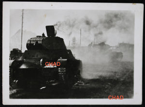 WW2 German propaganda photo smoking Russian tank @1942