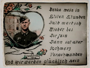 WW2 German soldier, sentimental thoughts Warsaw Poland 1942