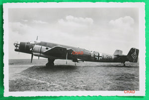 WW2 Propaganda photo German Junkers JU 86 on tarmac
