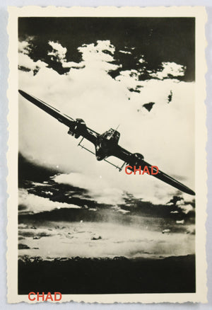 WW2 Propaganda photo German Dornier Do 215 bomber banking
