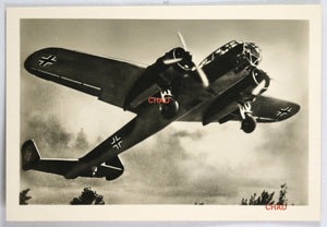 WW2 Propaganda photo of a German Dornier Do 215 bomber taking off