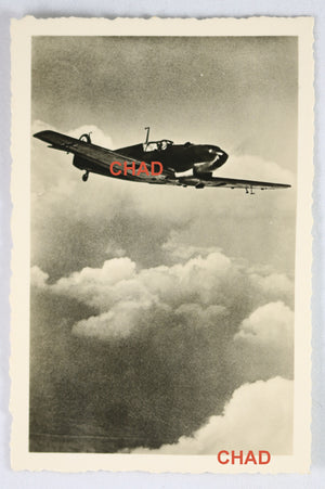 WW2 Propaganda photo German Messerschmitt Me 109 fighter airborne